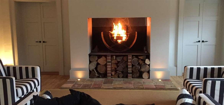 Weddings - Henstead Pavilion - Fireplace