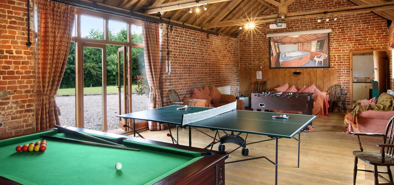 Wheatacre Hall Barns Games Room