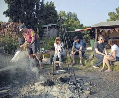 WTS - Alde Garden - sitting round the fire