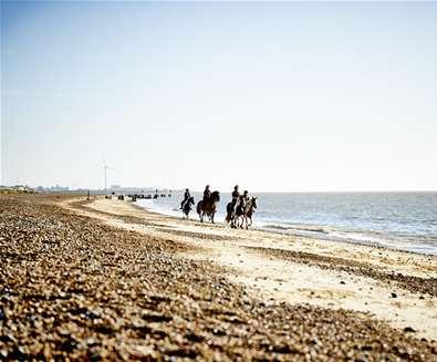 Horseriding on Pakefield Beach - (c) Ade Gormley