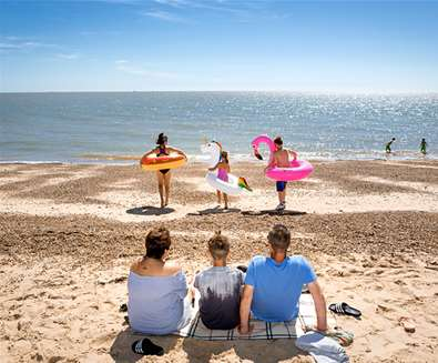 Felixstowe Beach Suffolk Sands Holiday Park