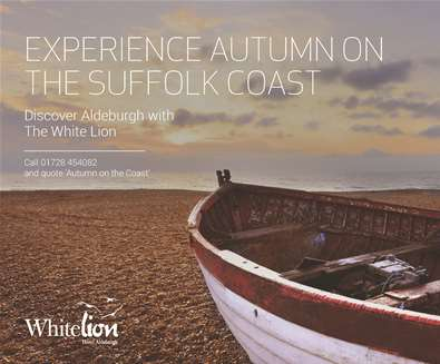 Explore 'Autumn on The Coast' with 25% off in October and November at The White Lion Hotel