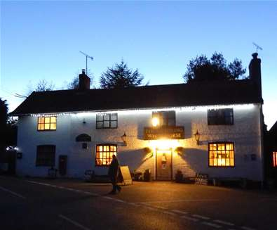 FD - The Sweffling White Horse - Exterior at night