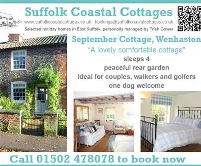 September Cottage £20 May Special Offer with Suffolk Coastal  Cottages