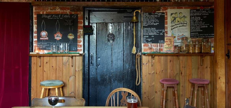 Sweffling White Horse - tap door